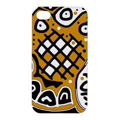 Yellow High Art Abstraction Apple Iphone 4/4s Hardshell Case by Valentinaart