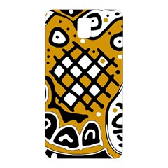 Yellow High Art Abstraction Samsung Galaxy Note 3 N9005 Hardshell Back Case by Valentinaart