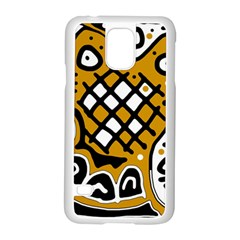 Yellow High Art Abstraction Samsung Galaxy S5 Case (white) by Valentinaart