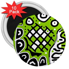 Green High Art Abstraction 3  Magnets (10 Pack)  by Valentinaart