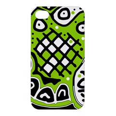 Green High Art Abstraction Apple Iphone 4/4s Hardshell Case by Valentinaart