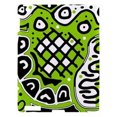 Green High Art Abstraction Apple Ipad 3/4 Hardshell Case by Valentinaart