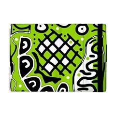 Green High Art Abstraction Apple Ipad Mini Flip Case by Valentinaart