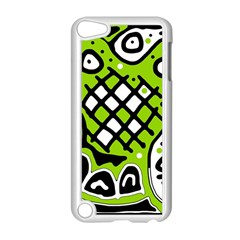 Green High Art Abstraction Apple Ipod Touch 5 Case (white) by Valentinaart