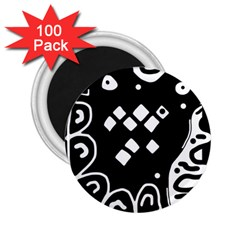 Black And White High Art Abstraction 2 25  Magnets (100 Pack)  by Valentinaart