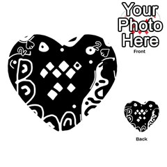 Black And White High Art Abstraction Playing Cards 54 (heart)  by Valentinaart
