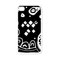 Black And White High Art Abstraction Apple Iphone 4 Case (white) by Valentinaart