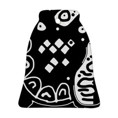 Black And White High Art Abstraction Ornament (bell)  by Valentinaart