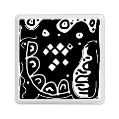 Black And White High Art Abstraction Memory Card Reader (square)  by Valentinaart