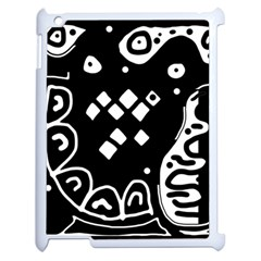 Black And White High Art Abstraction Apple Ipad 2 Case (white) by Valentinaart
