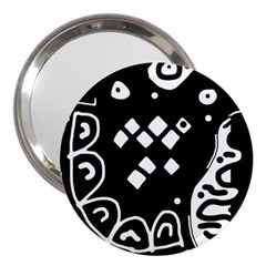 Black And White High Art Abstraction 3  Handbag Mirrors by Valentinaart