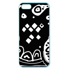 Black And White High Art Abstraction Apple Seamless Iphone 5 Case (color) by Valentinaart