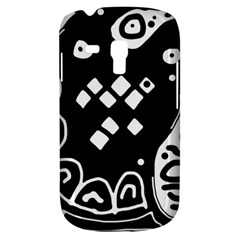 Black And White High Art Abstraction Samsung Galaxy S3 Mini I8190 Hardshell Case by Valentinaart