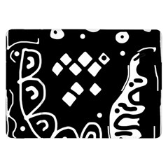Black And White High Art Abstraction Samsung Galaxy Tab 8 9  P7300 Flip Case by Valentinaart