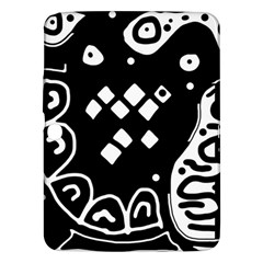 Black And White High Art Abstraction Samsung Galaxy Tab 3 (10 1 ) P5200 Hardshell Case  by Valentinaart