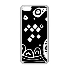 Black And White High Art Abstraction Apple Iphone 5c Seamless Case (white) by Valentinaart