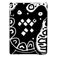 Black And White High Art Abstraction Ipad Air Hardshell Cases by Valentinaart