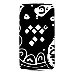 Black And White High Art Abstraction Samsung Galaxy Mega I9200 Hardshell Back Case by Valentinaart