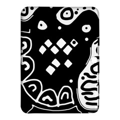 Black And White High Art Abstraction Samsung Galaxy Tab 4 (10 1 ) Hardshell Case  by Valentinaart