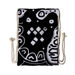 Black And White High Art Abstraction Drawstring Bag (small) by Valentinaart