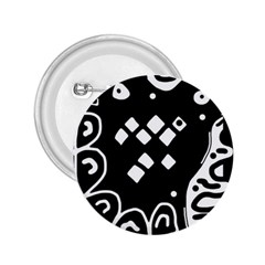 Black And White High Art Abstraction 2 25  Buttons by Valentinaart