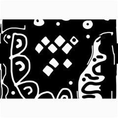 Black And White High Art Abstraction Collage Prints by Valentinaart