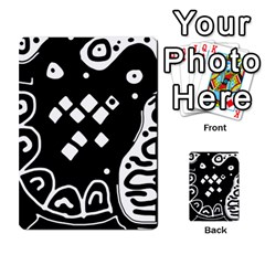 Black And White High Art Abstraction Multi Purpose Cards (rectangle)  by Valentinaart