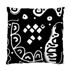 Black And White High Art Abstraction Standard Cushion Case (two Sides) by Valentinaart