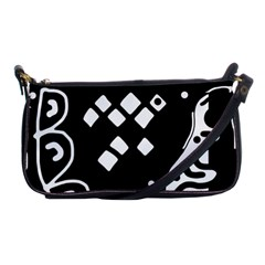 Black And White High Art Abstraction Shoulder Clutch Bags by Valentinaart
