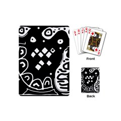 Black And White High Art Abstraction Playing Cards (mini)  by Valentinaart