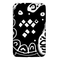 Black And White High Art Abstraction Samsung Galaxy Tab 3 (7 ) P3200 Hardshell Case  by Valentinaart
