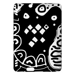 Black and white high art abstraction Kindle Fire HDX Hardshell Case by Valentinaart