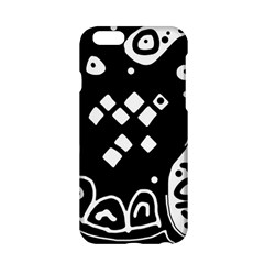 Black And White High Art Abstraction Apple Iphone 6/6s Hardshell Case by Valentinaart