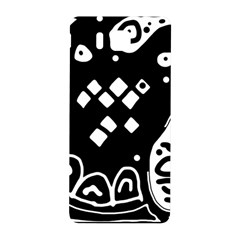 Black And White High Art Abstraction Samsung Galaxy Alpha Hardshell Back Case by Valentinaart