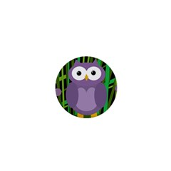 Purple Owl 1  Mini Magnets by Valentinaart