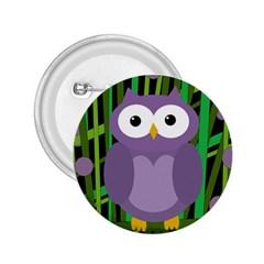 Purple Owl 2 25  Buttons by Valentinaart