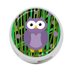 Purple Owl 4 Port Usb Hub (two Sides)  by Valentinaart