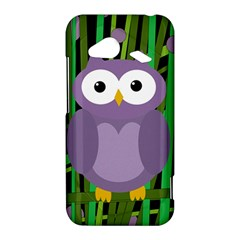 Purple owl HTC Droid Incredible 4G LTE Hardshell Case by Valentinaart