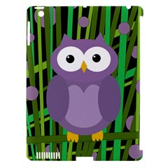 Purple Owl Apple Ipad 3/4 Hardshell Case (compatible With Smart Cover) by Valentinaart