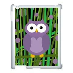 Purple Owl Apple Ipad 3/4 Case (white) by Valentinaart