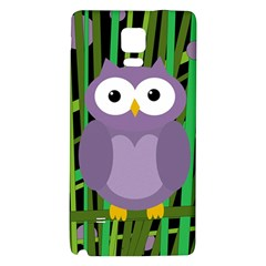 Purple Owl Galaxy Note 4 Back Case by Valentinaart