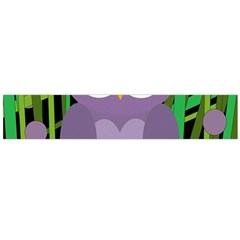 Purple Owl Flano Scarf (large) by Valentinaart