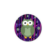 Green And Purple Owl Golf Ball Marker (4 Pack) by Valentinaart