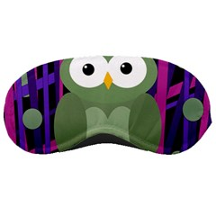 Green And Purple Owl Sleeping Masks by Valentinaart