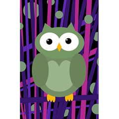 Green and purple owl 5.5  x 8.5  Notebooks by Valentinaart