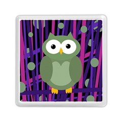 Green And Purple Owl Memory Card Reader (square)  by Valentinaart