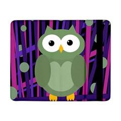 Green and purple owl Samsung Galaxy Tab Pro 8.4  Flip Case by Valentinaart