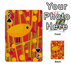 Yellow Bird Playing Cards 54 Designs  by Valentinaart