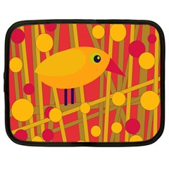 Yellow Bird Netbook Case (xxl)  by Valentinaart