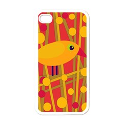 Yellow Bird Apple Iphone 4 Case (white) by Valentinaart